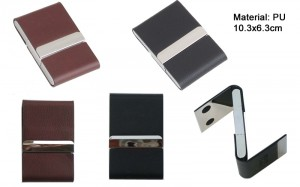 Double side leather PU namecard case