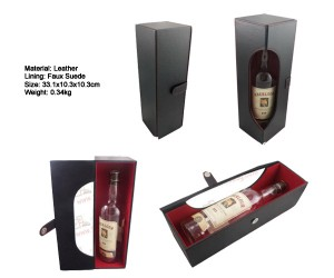 LeatherWineBox for 1 bottle