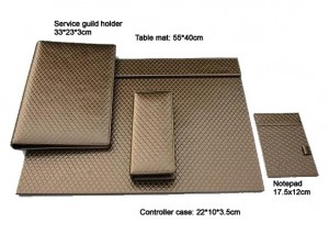Mat & service guild holder & notepad