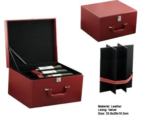 PU leather_wine_box_for_6_bottles