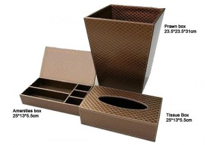 Prawn box & tissue box & amenities box