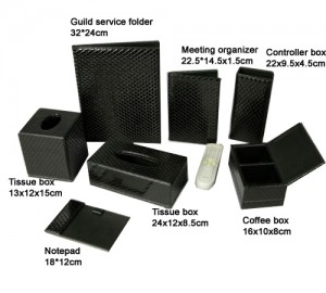 Professional Hotel Leather amenities Set