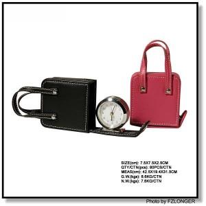 handbag shape mini clock
