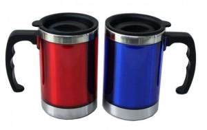 2 layer stainless steel car mug, auto mug with handle