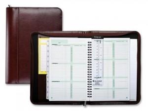 b5 business agenda organizer Spiral planner notebook with zip