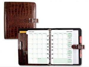customized print crocodile pu agenda meeting notebook