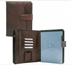 pu leather cover notebook with ring binder and pocket