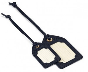 Luggage tag with strap