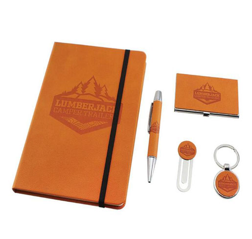 high end Corporate business Gifts set with golf gift and notebook